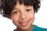 Cute Mixed Race Boy Close Up.