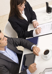 job interview with two interviewers
