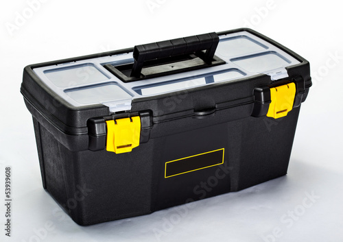 Black construction toolbox