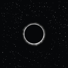Solar eclipse, vector. Eps 10