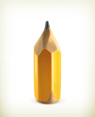 HB graphite pencil, icon