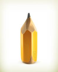 HB graphite pencil, icon