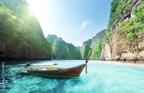 bay at Phi phi island in Thailand