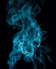 Blue smoke.