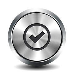 Round metallic button - validation