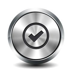 Round metallic button - validation