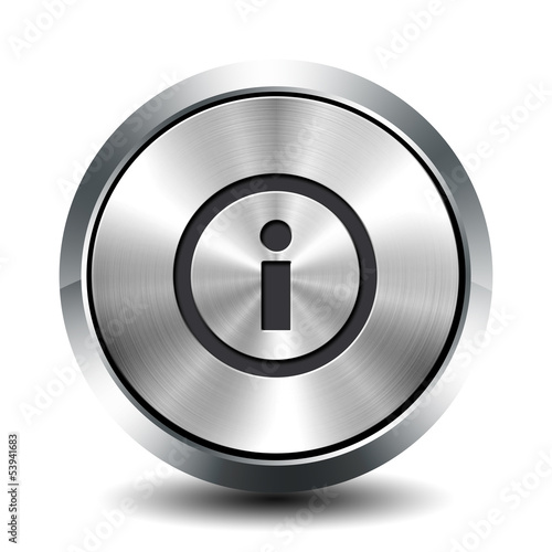 Round metallic button - info