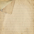 Old paper with bent corner, vintage background texture