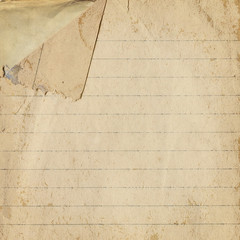 Old paper with bent corner, vintage background texture