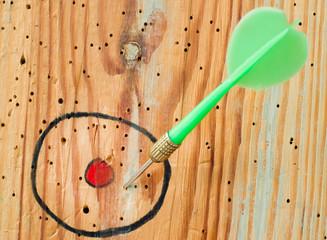 Close up of a dart