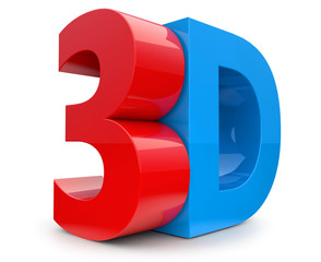 3D word in red