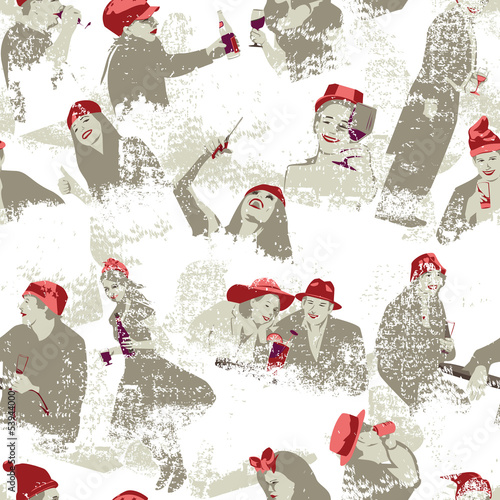 Cheers Seamless Pattern
