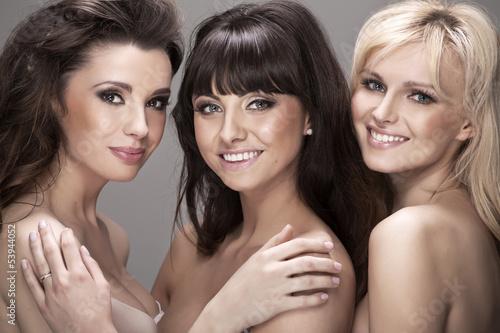 Three fantastic girls in sexy pose