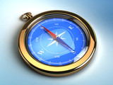 Fototapety golden pocket compasses