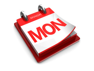 calendar icon of monday