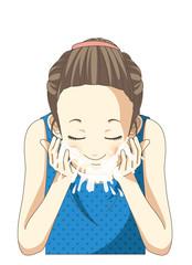 女の子 洗顔 スキンケア