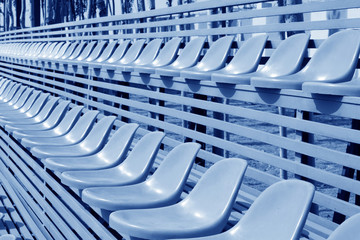 empty colorful stadium seats