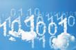 Digital 01 cloud background