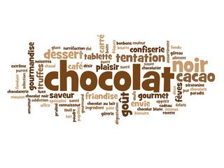"Nuage de Tags ""CHOCOLAT"" (cacao noir gâteau dessert chocolats)"