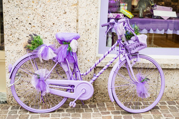 Lilac bycicle