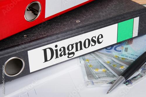 Aktenordner mit Diagnose