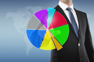 Businessman with Pie Chart
