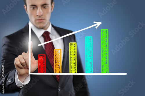 Man with Chart
