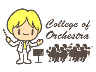 Orchestral  mascot. Education and life Character Design series.