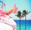Summer vacation travel freedom concept