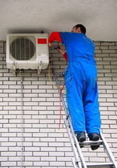 Air conditioner worker