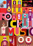 Fototapety Rock Music - vector illustration