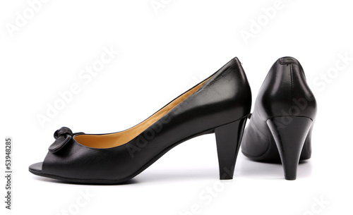 Elegant black female shoes