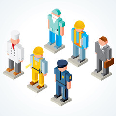 3D People Occupations Icons