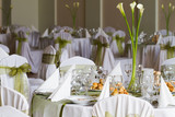 elegant decoration of wedding table