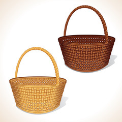 Isolated Woven Baskets
