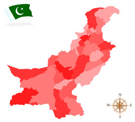 Map of Pakistan, provinces and regions