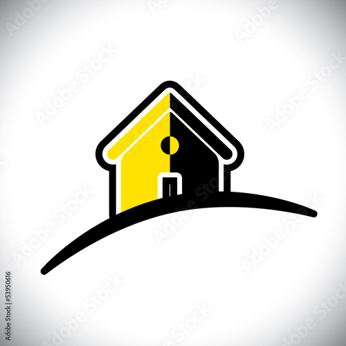 abstract residential house(home) icon(symbol)- vector graphic