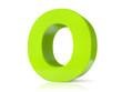 3d green letter - O