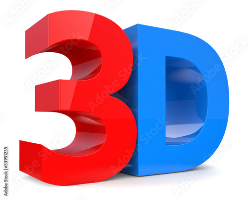 Word 3D over white background