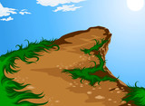 Hilltop nature vector background poster