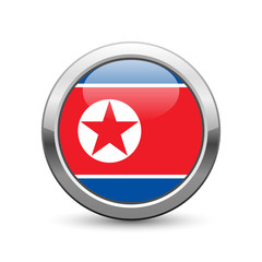 North Korean flag icon web button