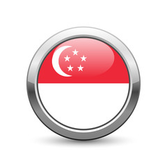Singaporean flag icon web button