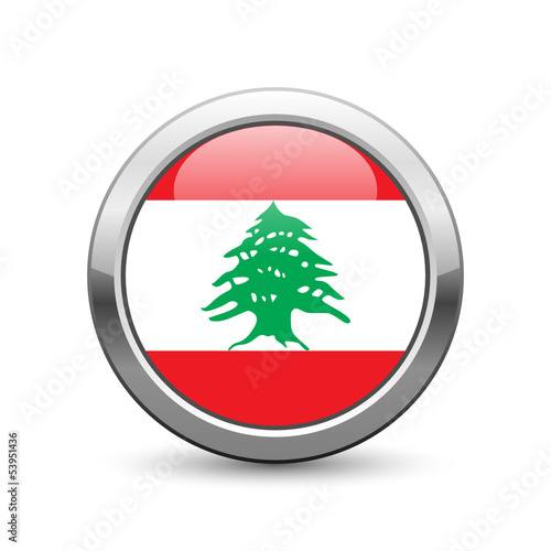 Lebanese flag icon web button