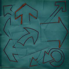 Artistic hand drawn arrows background