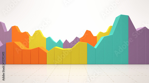 Colorful business statistics