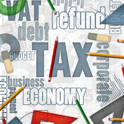 tax financial business background