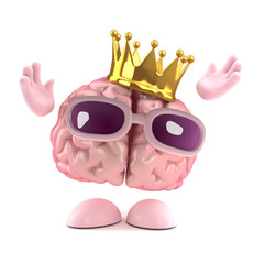 Brain wears a crown