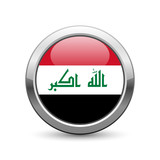 Iraqi flag icon web button