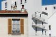 ancien et moderne architecture de banlieue parisienne