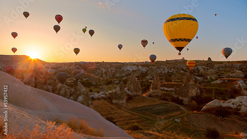 hot air balloon in goreme - 53957432